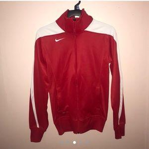 Red Nike zip up turtleneck sweater🍒